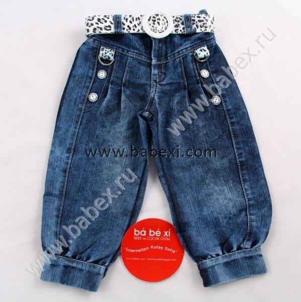 Штаны, леггинсы, шорты (73).  Капри джинсовые для девочки желтые.